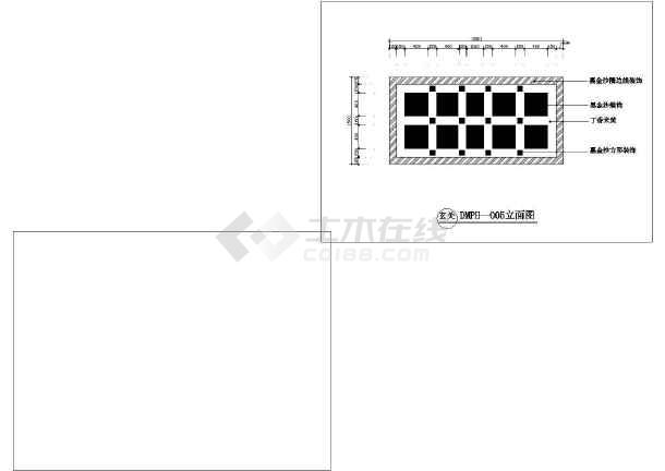 石材地面拼花园林小品设计CAD图纸-图1