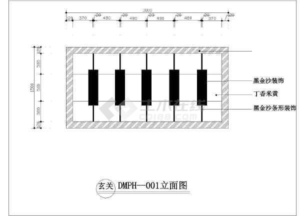 石材地面拼花园林小品设计CAD图纸-图2