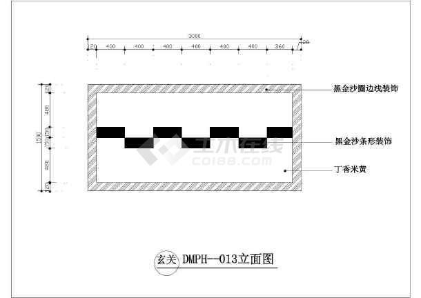 石材地面拼花园林小品设计CAD图纸-图3