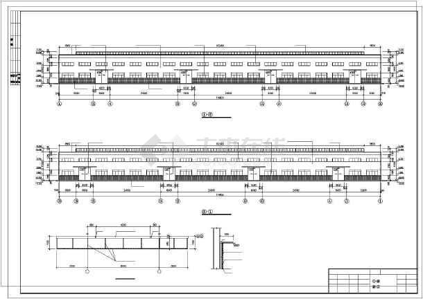 某注塑车间钢结构施工图-图1