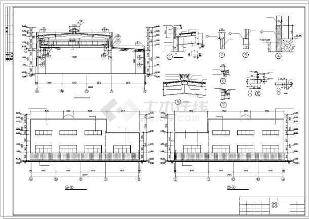 某注塑车间钢结构施工图-图2