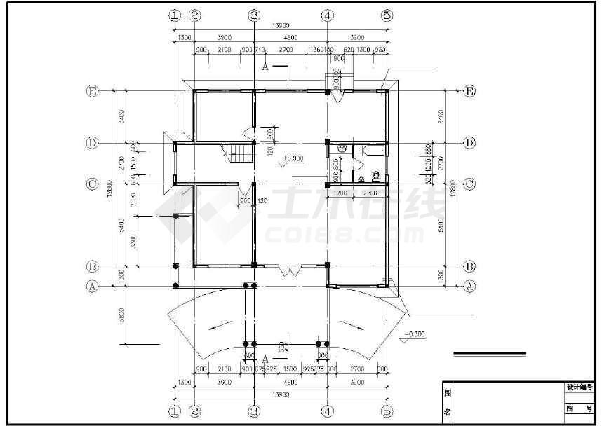 别墅全套建筑结构施工图-图2