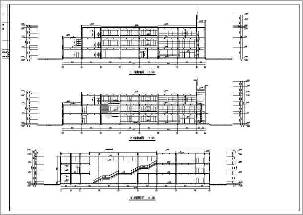 知名学校简约食堂全套建筑设计施工图(带效果图)-图2