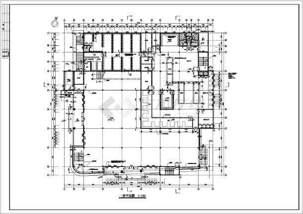 知名学校简约食堂全套建筑设计施工图(带效果图)-图3