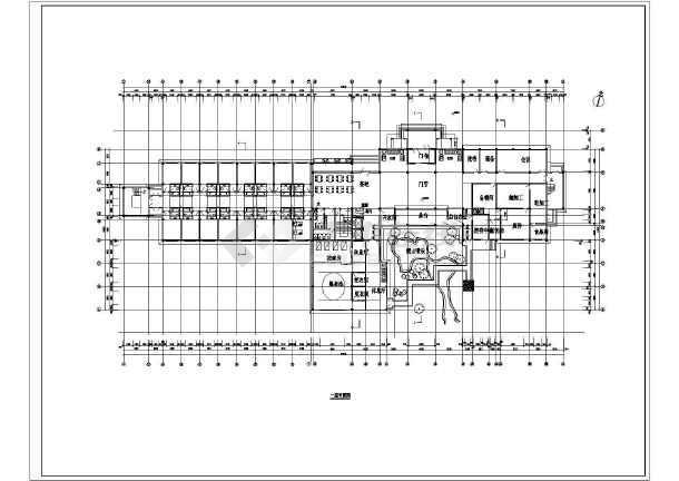 某地方温泉度假别墅施工图CAD图纸-图3