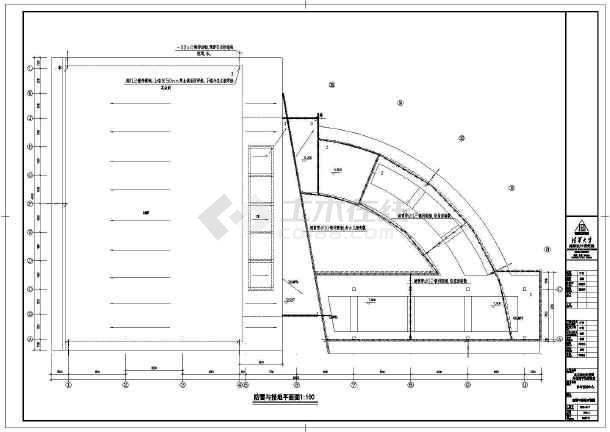 某大型体育馆全套电气cad施工设计图-图1