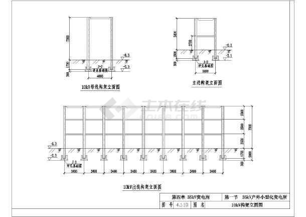 典型35KV变电所设计cad电气施工通用图集-图2