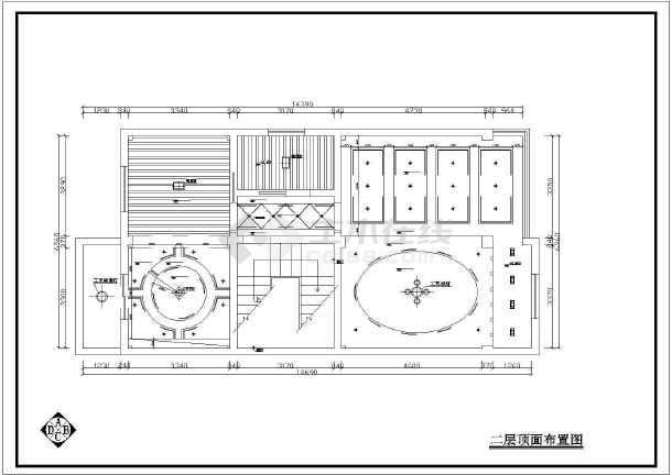 某住宅全套室内设计装修CAD施工图纸-图2