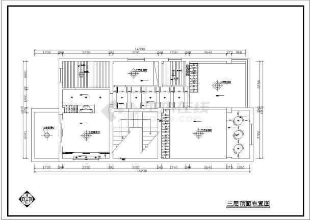 某住宅全套室内设计装修CAD施工图纸-图3