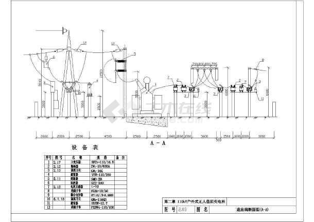 35-110KV变电工程电气设计施工通用图集-图3