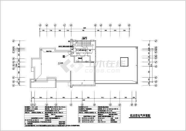 高层住宅楼电气cad全套设计施工图纸-图1