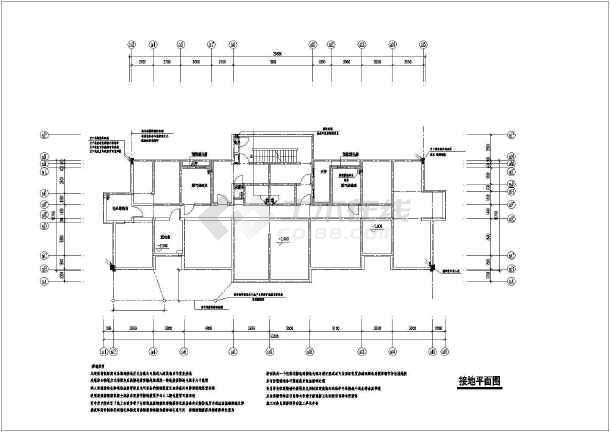 高层住宅楼电气cad全套设计施工图纸-图3
