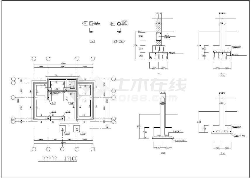 比较简单的别墅建筑及结构施工图