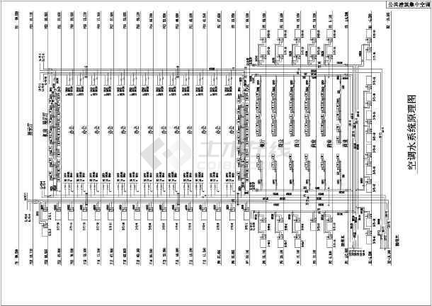 公共建筑集中空调设计图-图2