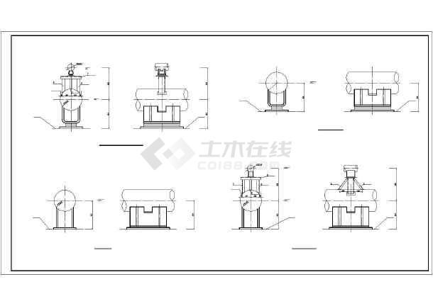 架空蒸汽管道给排水图纸-图2