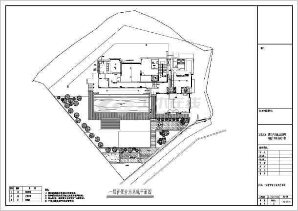 别墅装修智能家具电气弱电cad施工图纸-图2