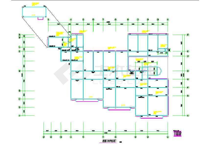 某地框架幼儿园结构设计图(含设计说明)-图1