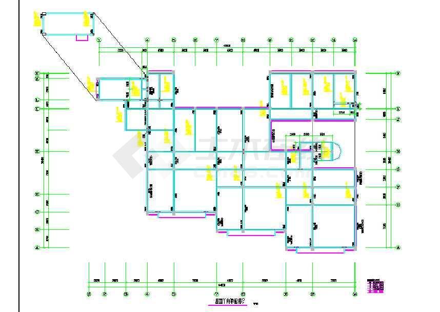 某地框架幼儿园结构设计图(含设计说明)-图2