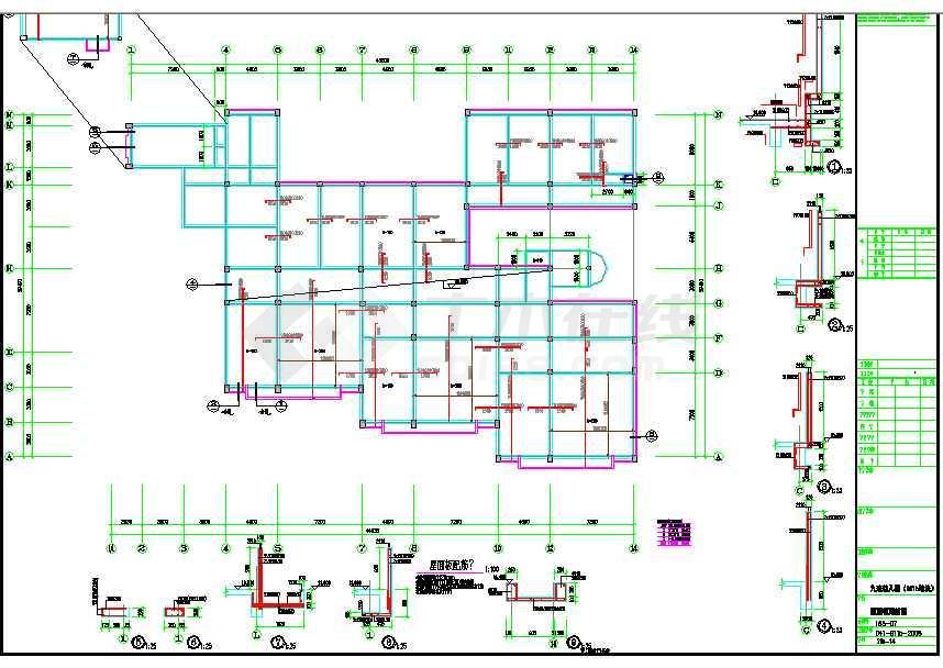 某地框架幼儿园结构设计图(含设计说明)-图3