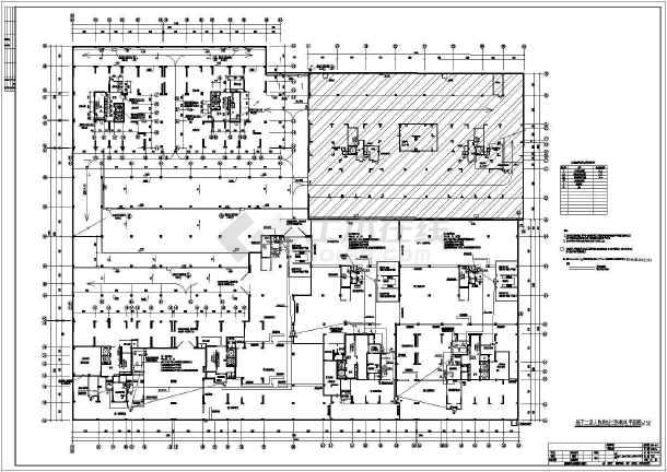 某防空人防地下室整套电气cad施工设计图-图1