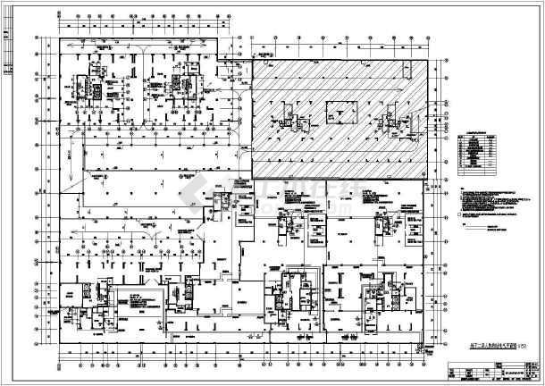 某防空人防地下室整套电气cad施工设计图-图2