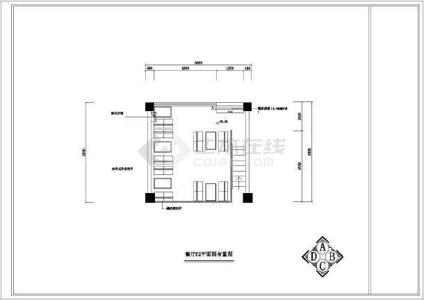 西式餐厅室内设计装修cad施工图-图3