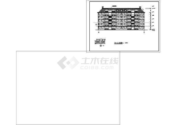 山水房地产开发有限公司山水公寓一号住宅CAD建筑设计图-图1