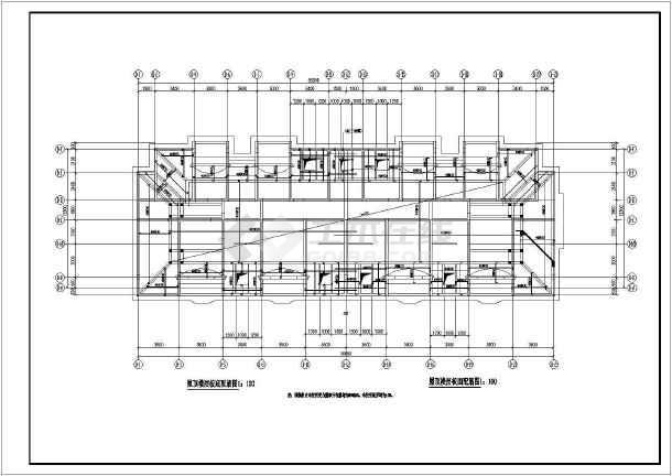 山水房地产开发有限公司山水公寓一号住宅CAD建筑设计图-图3