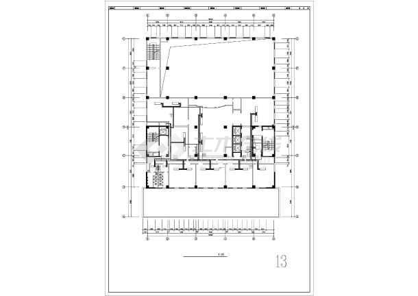 高层酒店给排水系统图纸-图2
