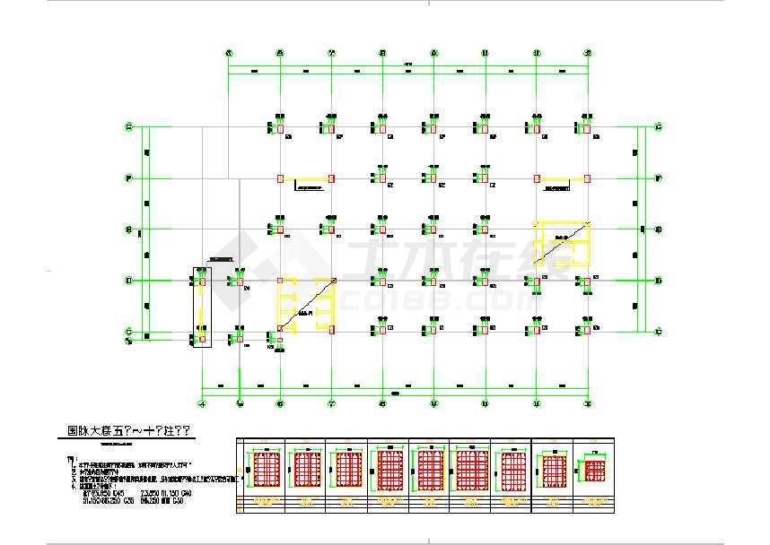 某地二十三层框剪结构商业结构施工图(桩基础)-图1