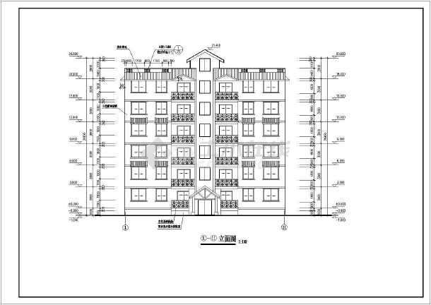 多层住宅建筑施工图纸(共10张)-图1