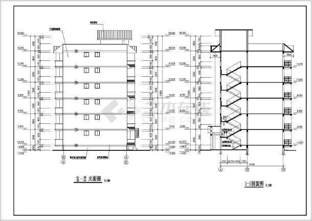 多层住宅建筑施工图纸(共10张)-图3