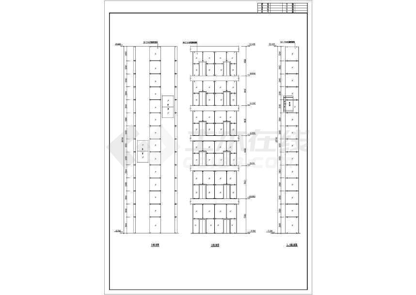 某钢结构观光电梯井结构设计图-图1