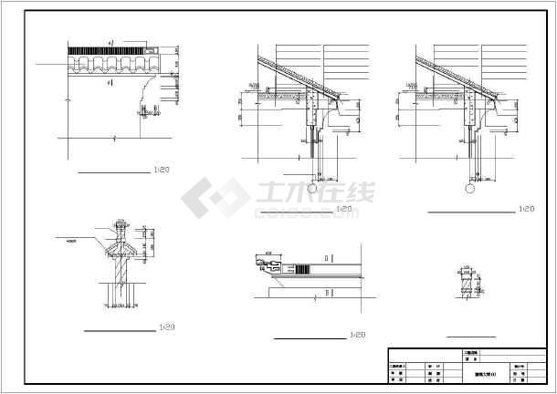 某地仿古代风格别墅建筑设计cad图-图1