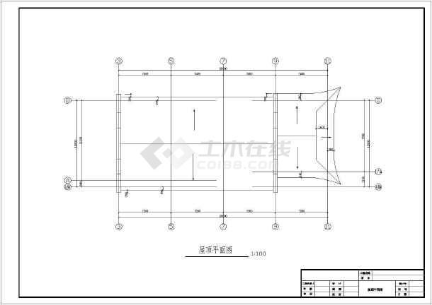 某地仿古代风格别墅建筑设计cad图-图3