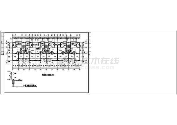 某单元式多层住宅楼设计cad全套建筑施工图-图3
