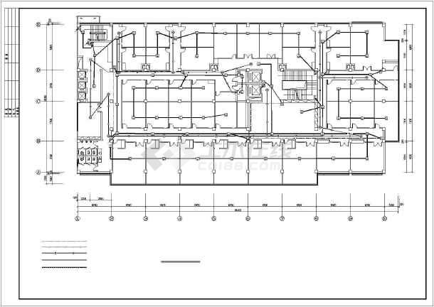 某地小型酒店电气设计施工图-图1