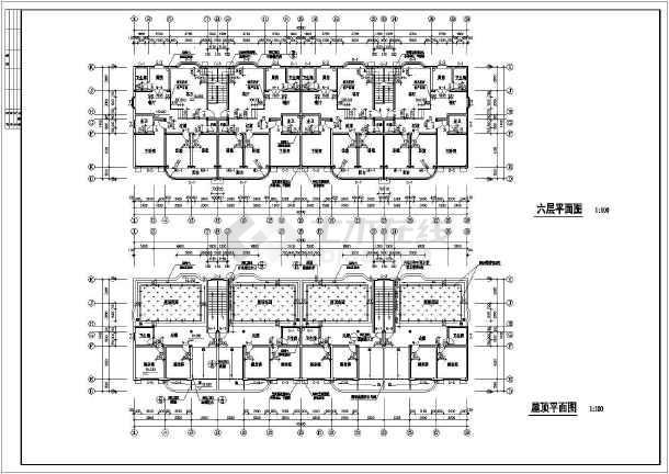 7层商务住宅楼整套建筑设计cad施工图-图1