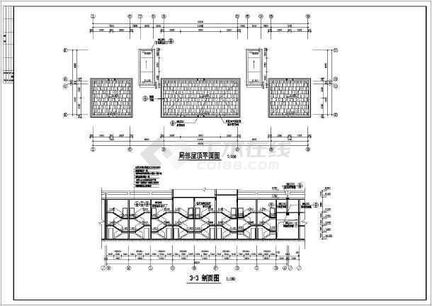 7层商务住宅楼整套建筑设计cad施工图-图3