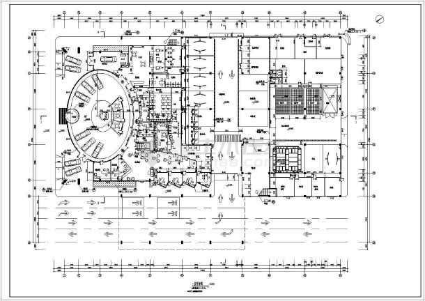 某地雷克萨斯4s店建筑设计图