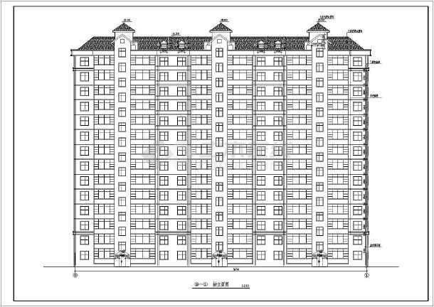 断肢剪力墙小高层住宅建筑施工图(共10张)-图1