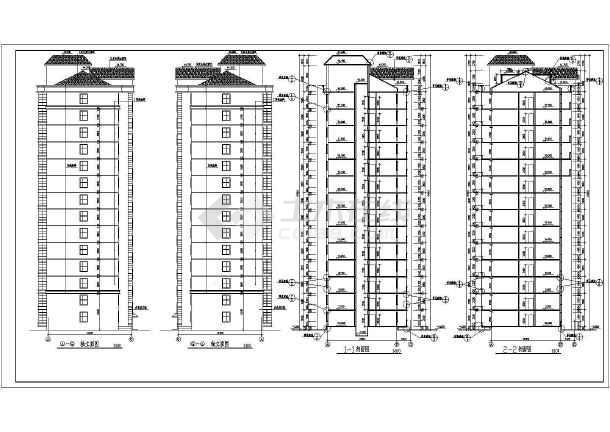 断肢剪力墙小高层住宅建筑施工图(共10张)-图2
