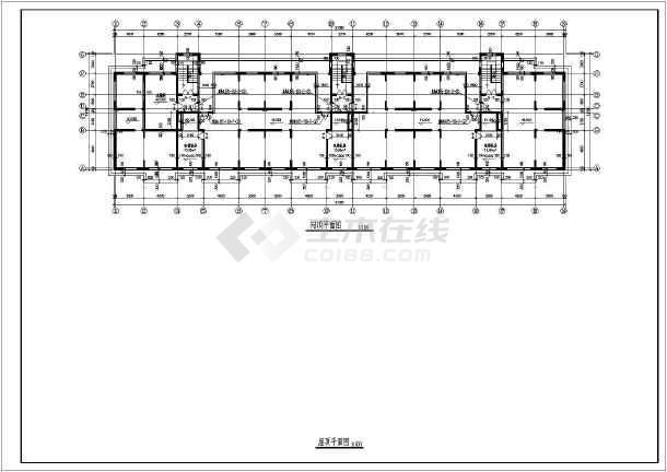 断肢剪力墙小高层住宅建筑施工图(共10张)-图3