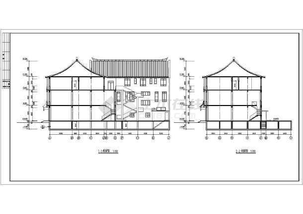 某地仿古清式公建建筑图纸-图3