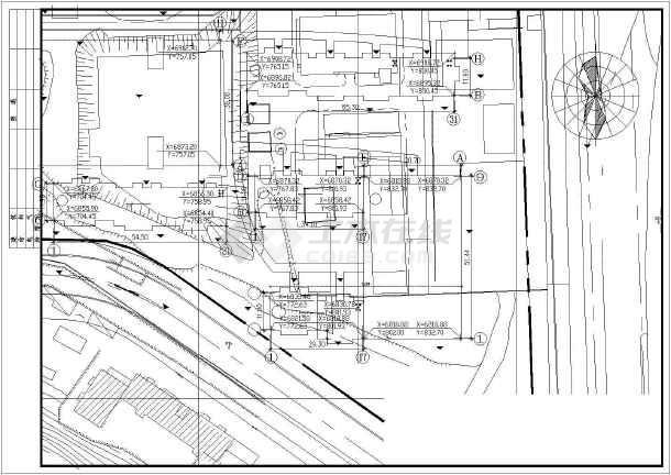 某小型超市全套建筑设计施工CAD图-图3