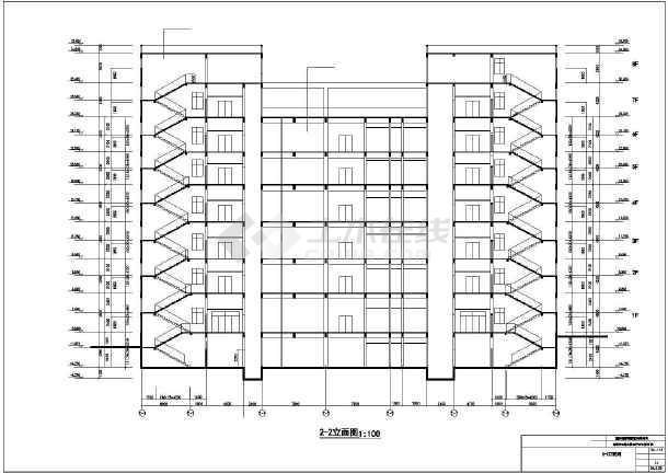 某地新东方百货大楼建筑设计施工CAD图-图1