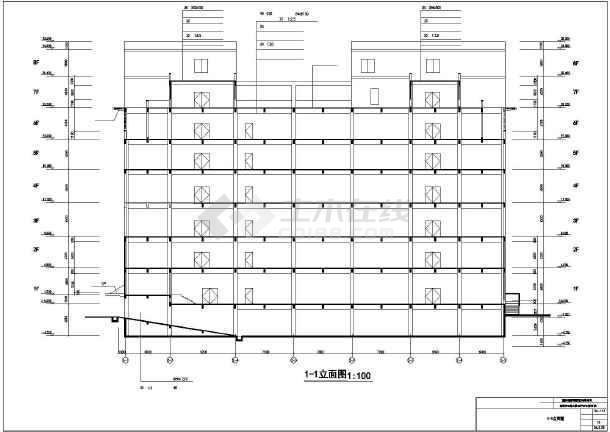 某地新东方百货大楼建筑设计施工CAD图-图2
