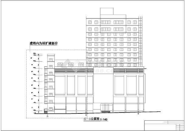 某地新东方百货大楼建筑设计施工CAD图-图3