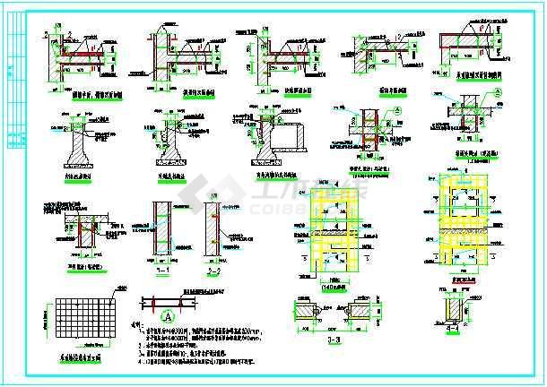结构加固工程通用图纸cad(含加固表示方法说明)-图3
