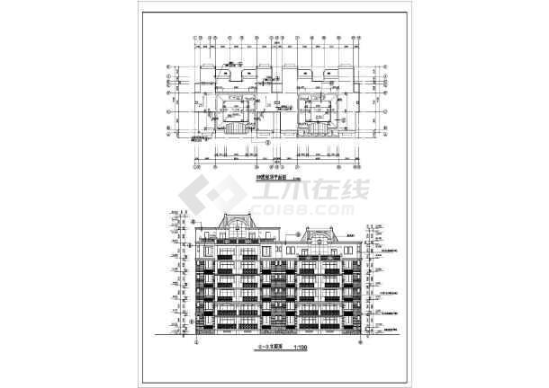 东方塞纳住宅建筑施工图(共8张)-图1